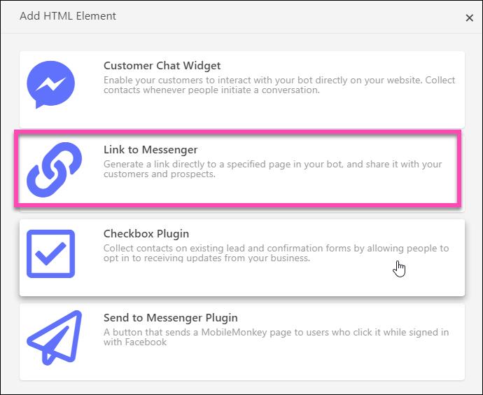 Image result for messenger checkbox mobile monkey